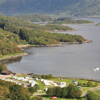 Camping & Caravanning site in the West Highlands of Scotland