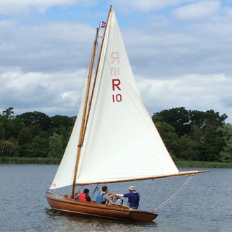 Traditional sailing on the Broads