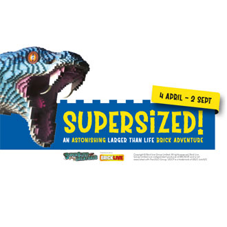 Marwell Zoo's first SUPERSIZED! brick adventure!