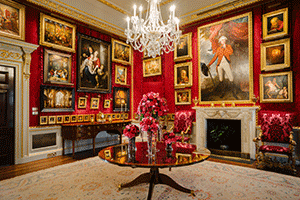 Red room at the Hillsborough Castle