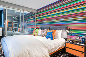 The bedroom at Gunwharf Quays