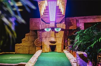 Treetop adventure golf