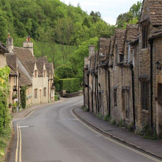 Castle Combe in Cotswold