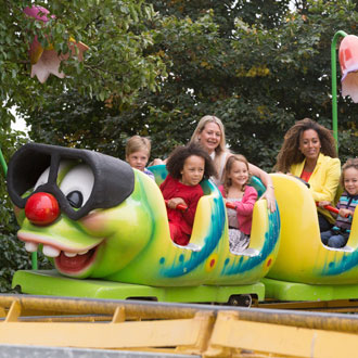 Children on a ride at lightwater valley