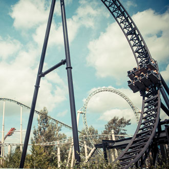 Rollercoasters at Thorpe Park